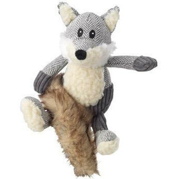 House of Paws Bushy Tail Tweed Fox Squeaker Dog Toy