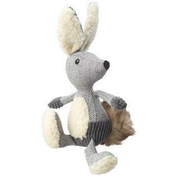 House of Paws Bushy Tail Tweed Hare Squeaker Dog Toy