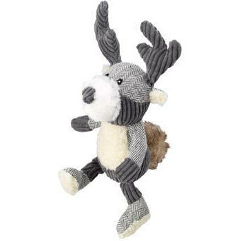 House of Paws Bushy Tail Tweed Stag Squeaker Dog Toy