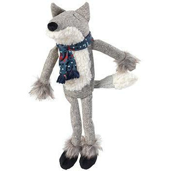 House of Paws Grey Woodland Fox Dog Toy