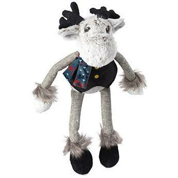 House of Paws Grey Woodland Reindeer Dog Toy