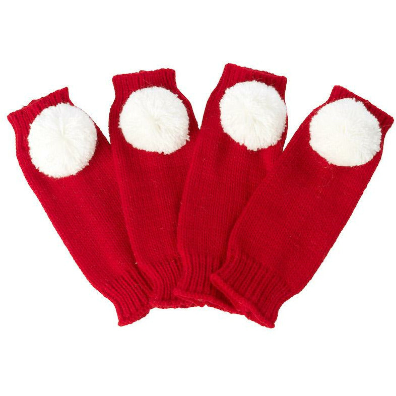 House of Paws Santa Leg Warmers With Pompoms