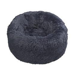 House of Paws Navy Faux Fur Donut - S/M