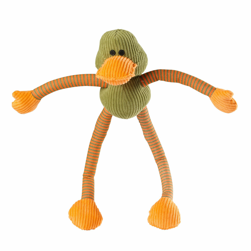 House of Paws Ducky Long Legs Squeaky Dog Toy - PurrfectlyYappy