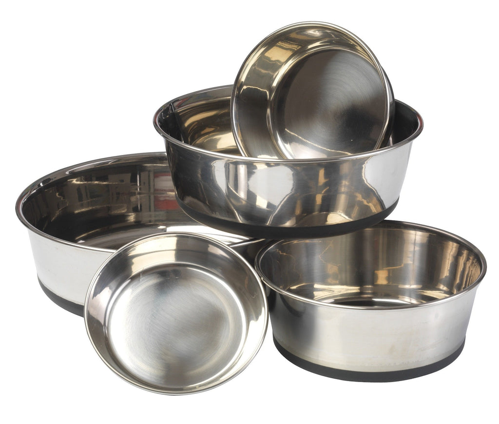 House of Paws Stainless Steel Bowl with Silicon Base - PurrfectlyYappy