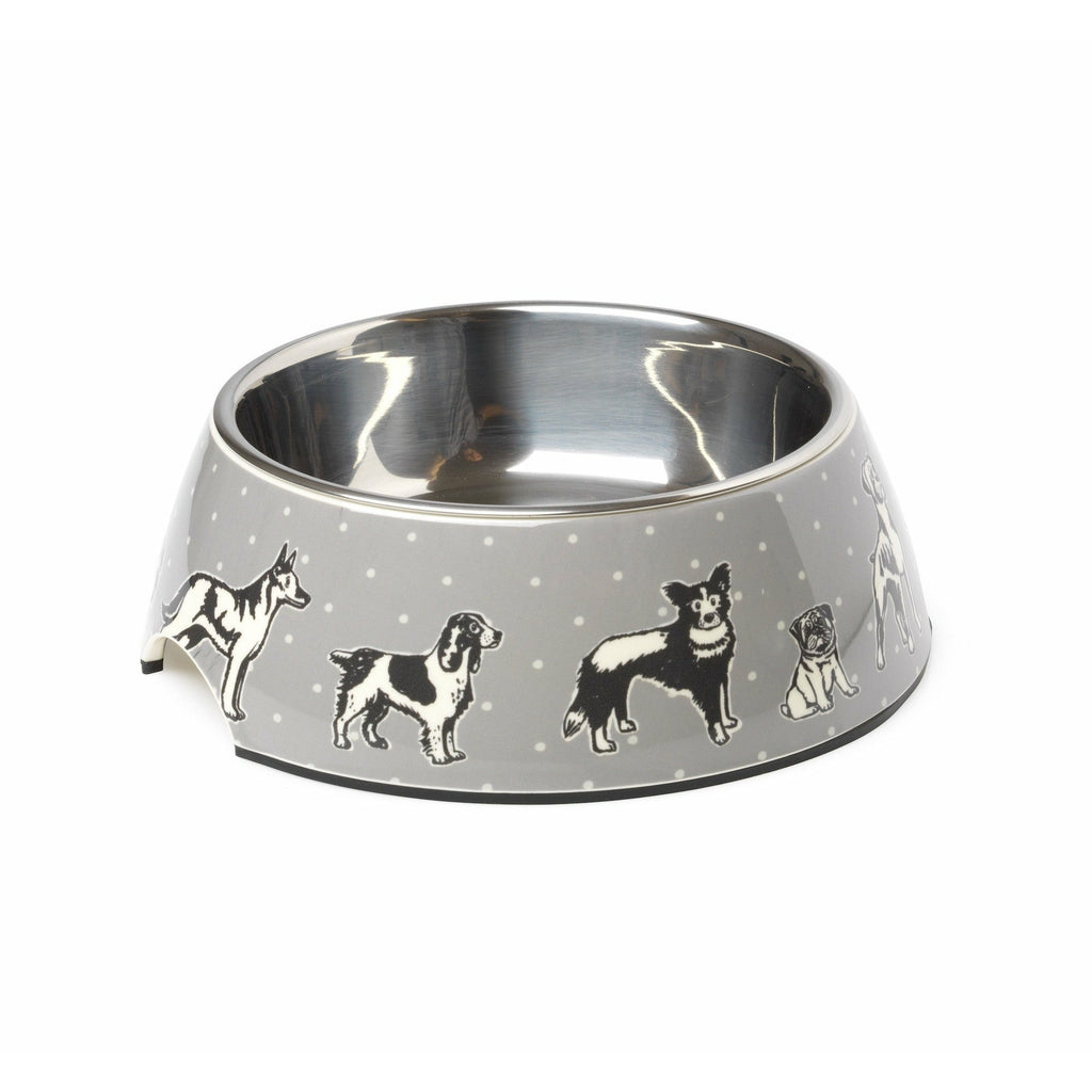 House of Paws Polka Dogs Print Dog Bowl - PurrfectlyYappy