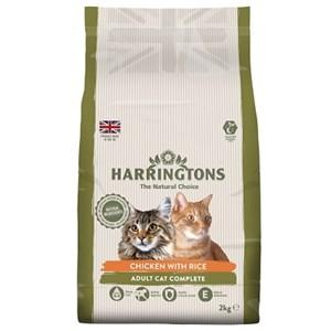 Harringtons Chicken & Rice Cat Food X4 2kg