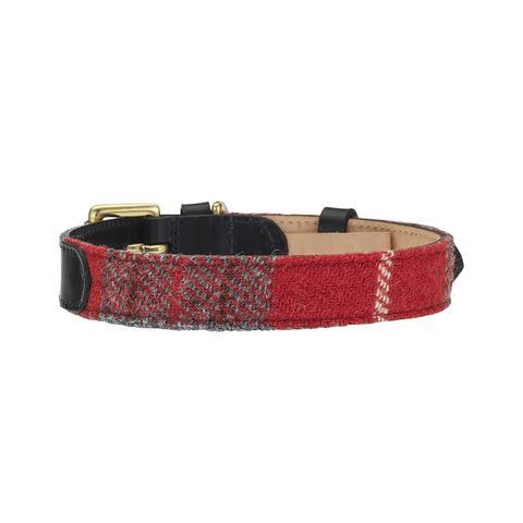 Lish London Hanbury Bk16 Harris Tweed Dog Collar