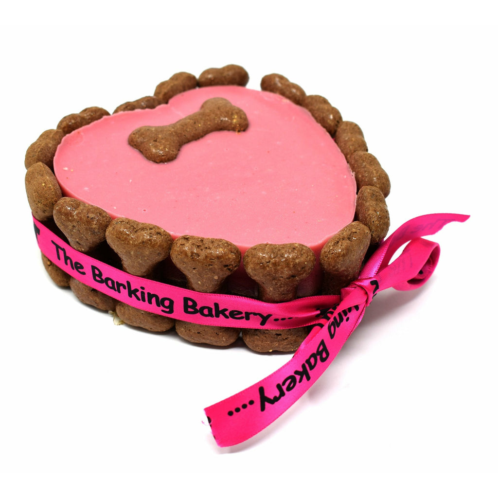 I WOOF U HEART SHAPED PAWTY CAKE