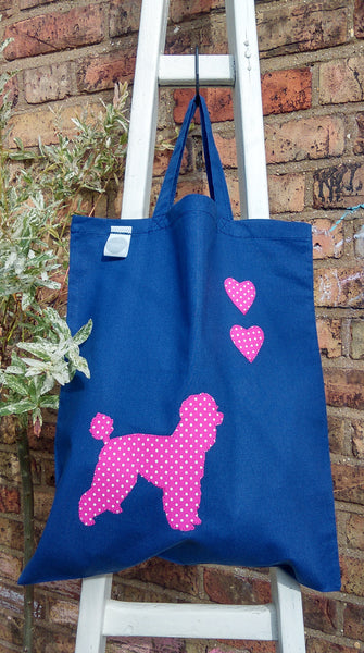 Slumbering Hound Personalised Tote Bag in Blue - PurrfectlyYappy