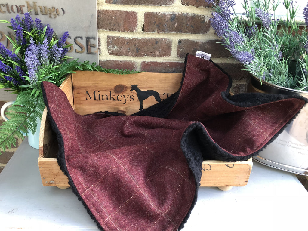 Minkeys Tweed Luxury Pet Blanket in Frisbee