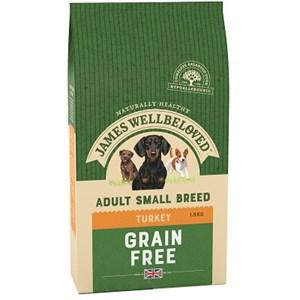 James Wellbeloved Small Breed Grain Free Turkey & Vegetable Dog Food 1.5kg