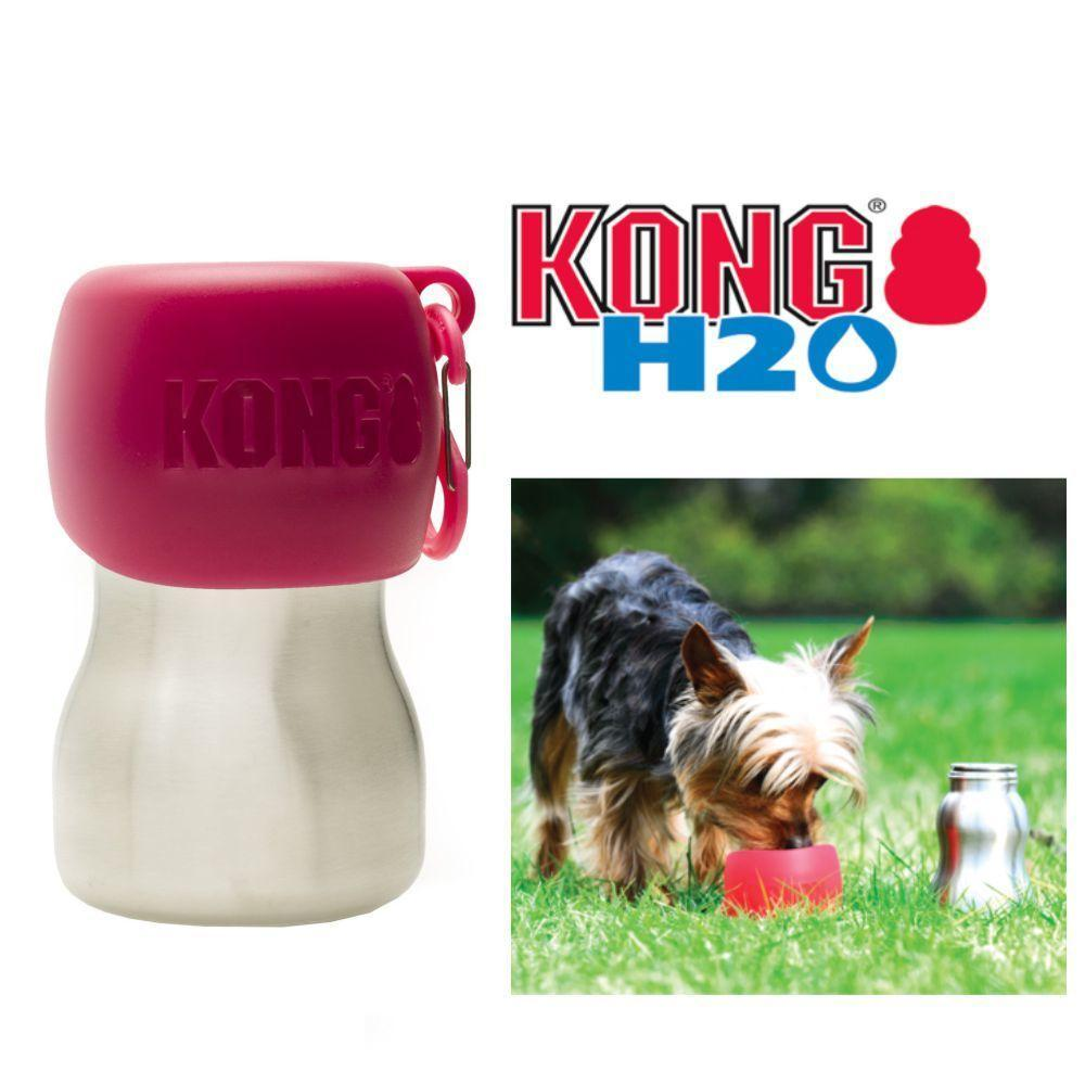 KONG H20 9.5oz Stainless Steel/Pink