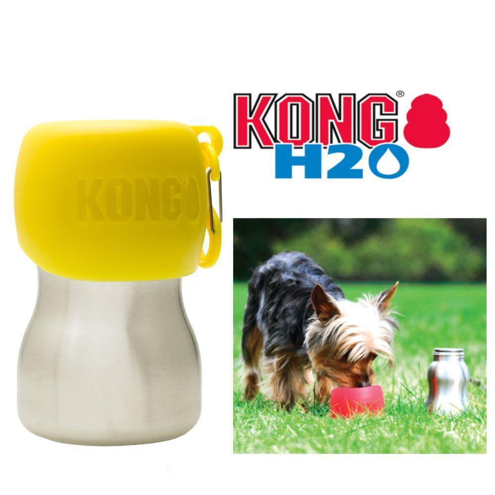 KONG H20 9.5oz Stainless Steel/Yellow
