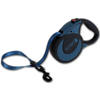 Kong Retractable Leash Ultimate Dog Lead in Blue - PurrfectlyYappy