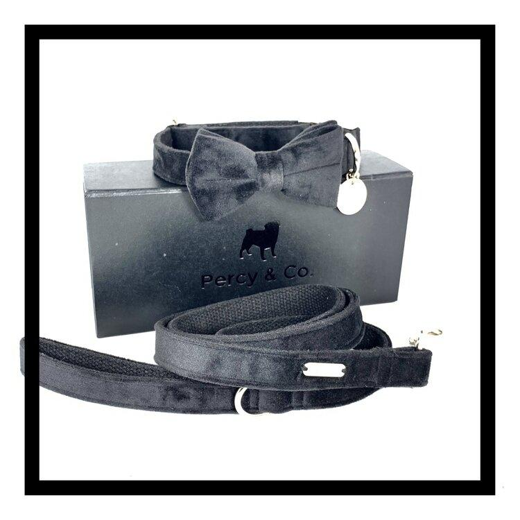 The Knightsbridge Bow Tie and Lead Set