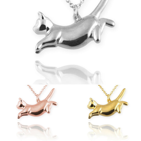 Jana Reinhardt Leaping Cat Necklace - PurrfectlyYappy