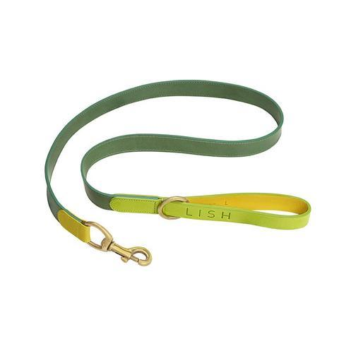 Lish London Leonard Lime Italian Leather Dog Lead