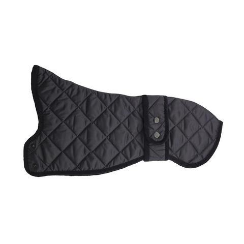 Lish London Navy Quilted Whippets Dog Raincoat