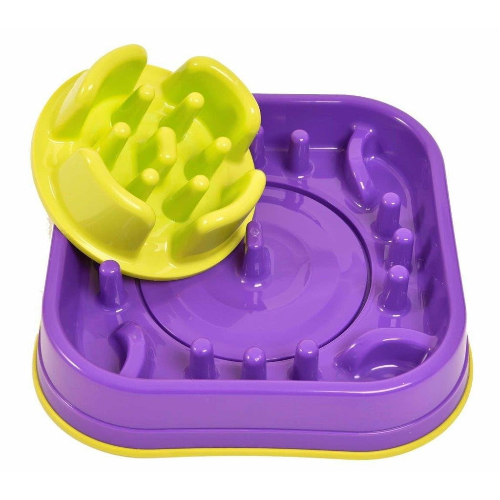 K9 Pursuits Switchers Purple Slow Feeding Bowl - PurrfectlyYappy