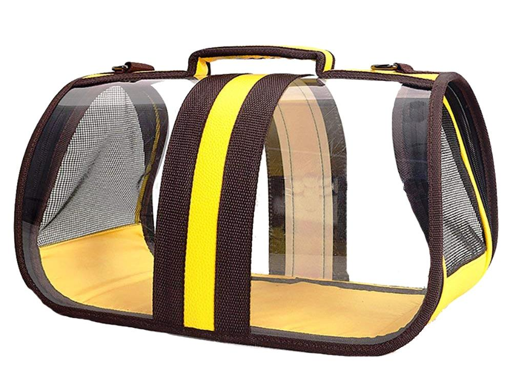 Petz-Aboard Transparent Pet Holder/Carrier Yellow