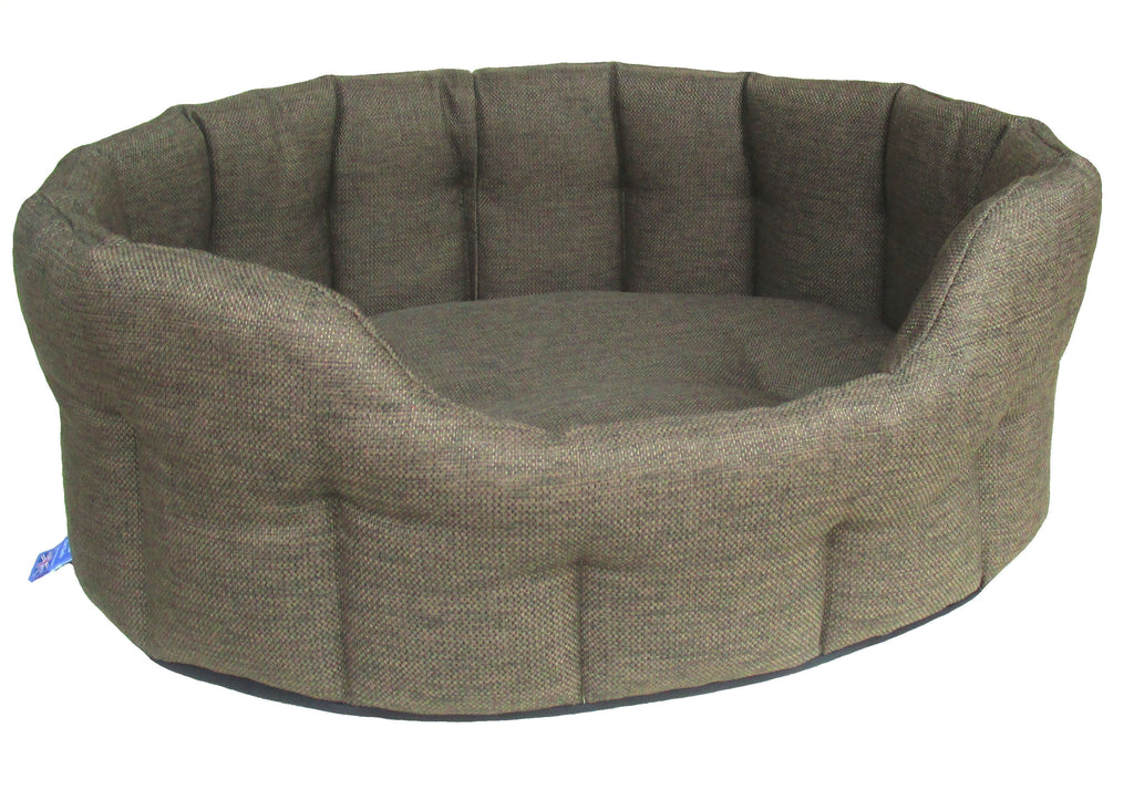 Premium Heavy Duty Oval Drop Fronted Basket Weave Softee Beds