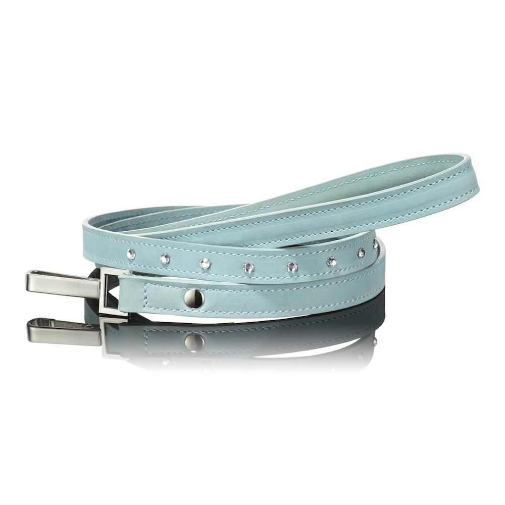 Paws with Opulence Light Blue Swarovski Dog Lead - PurrfectlyYappy