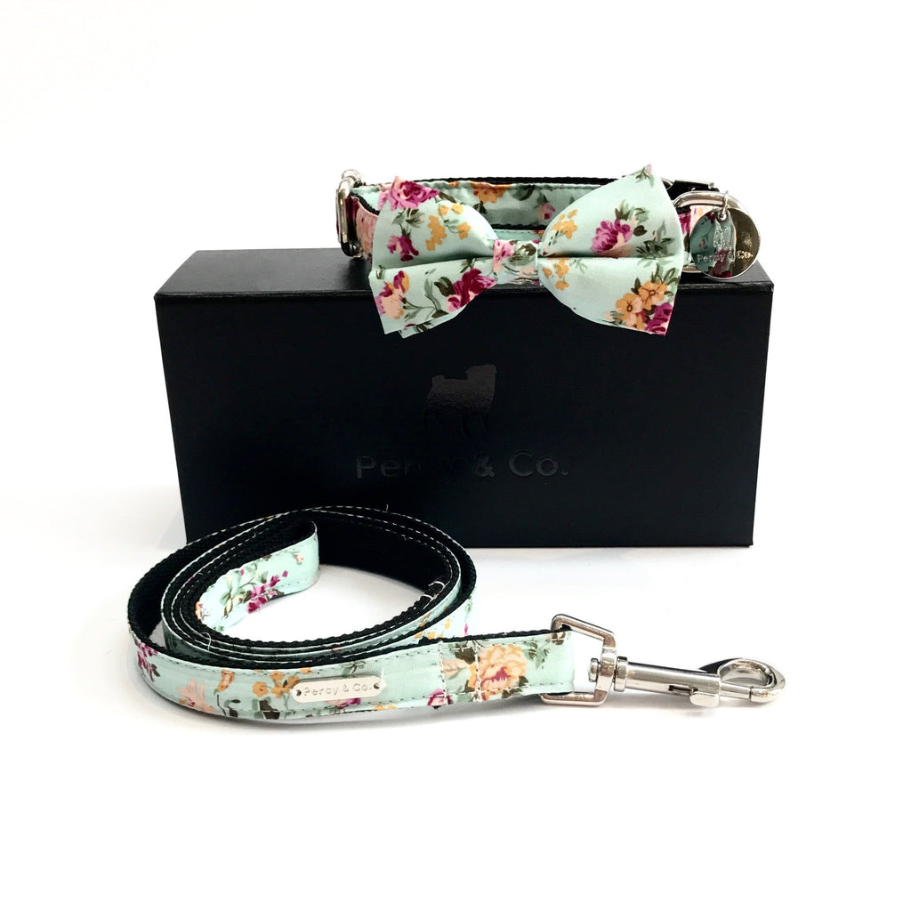 Percy & Co. Bow Tie Collar & Lead Set in The Barnes - PurrfectlyYappy