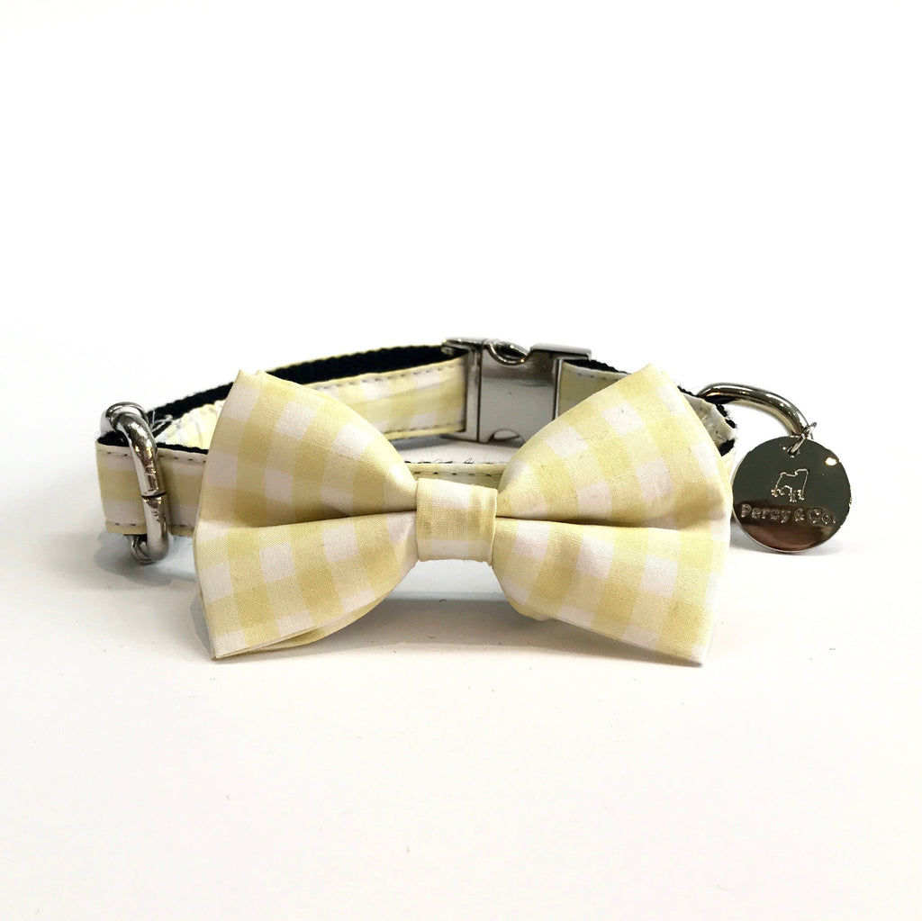 Percy & Co. Dog Collar Bow Tie in The Hampstead - PurrfectlyYappy