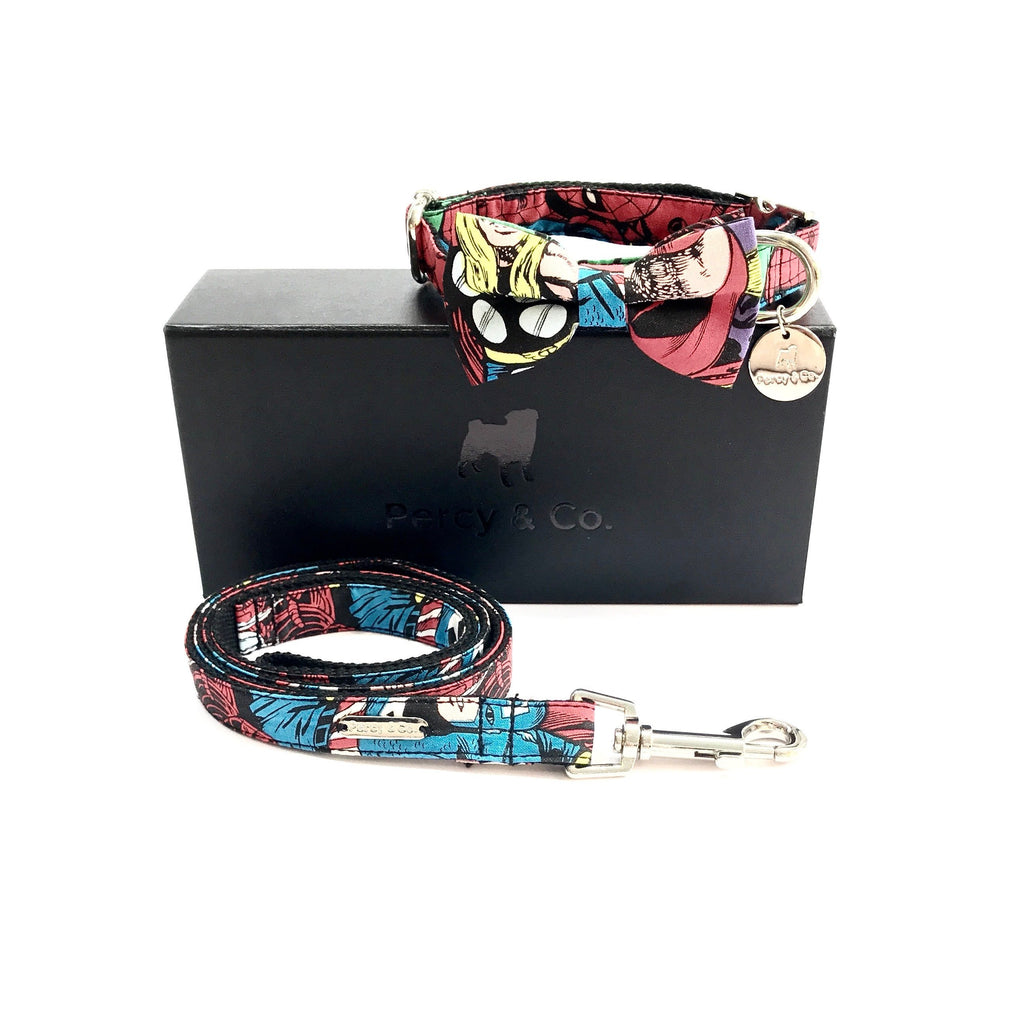 Percy & Co. Bow Tie Collar & Lead Set in The Jesmond - PurrfectlyYappy
