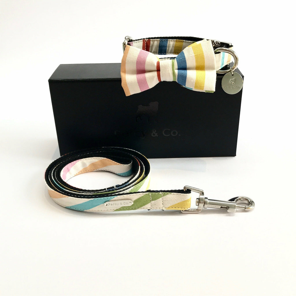 Percy & Co. Bow Tie Collar & Lead Set in The Thurlestone - PurrfectlyYappy