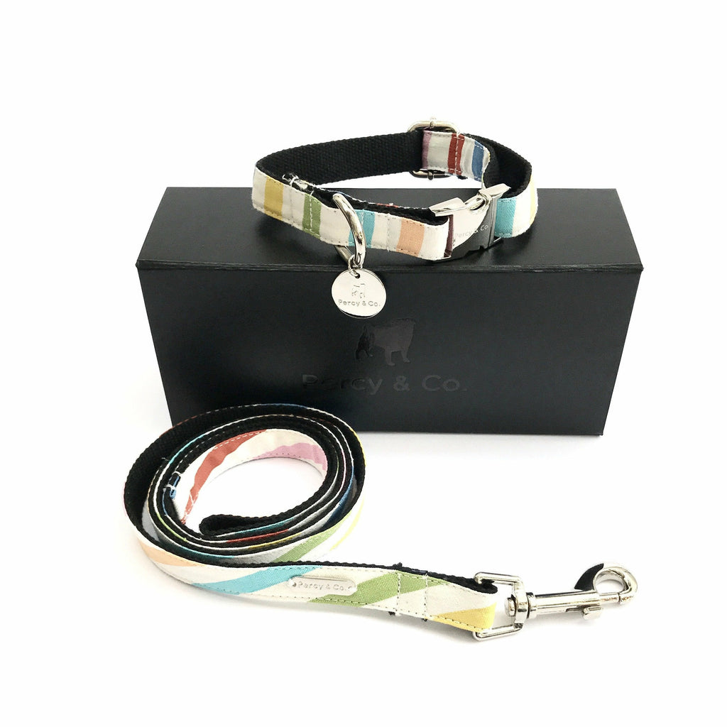 Percy & Co. Dog Collar & Lead Set in The Thurlestone - PurrfectlyYappy