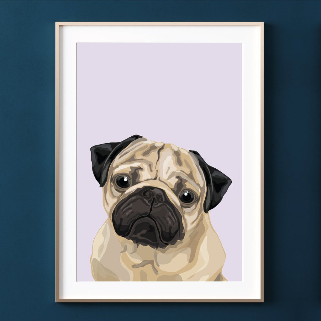 Make Like A Bandit Pug Print