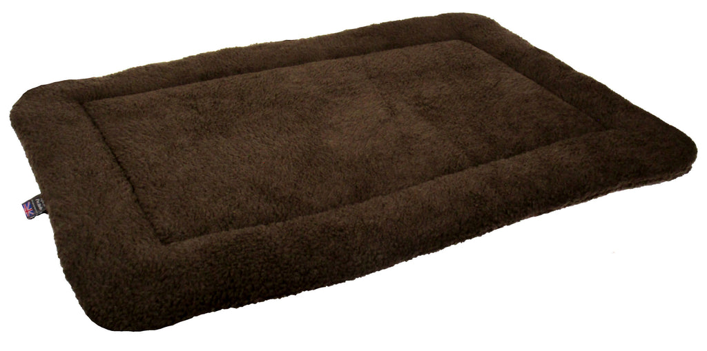 P&L Rectangular Fleece Cushion Pad in Dark Brown - PurrfectlyYappy