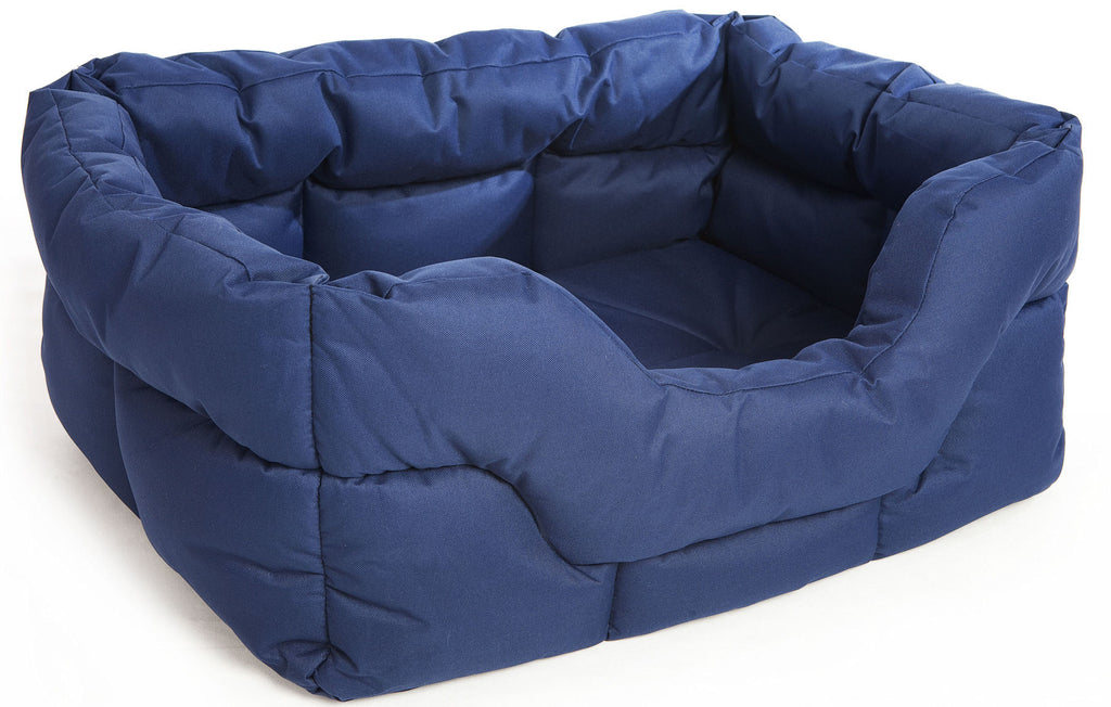 P&L Country Heavy Duty Rectangular Softee Bed in Blue - PurrfectlyYappy