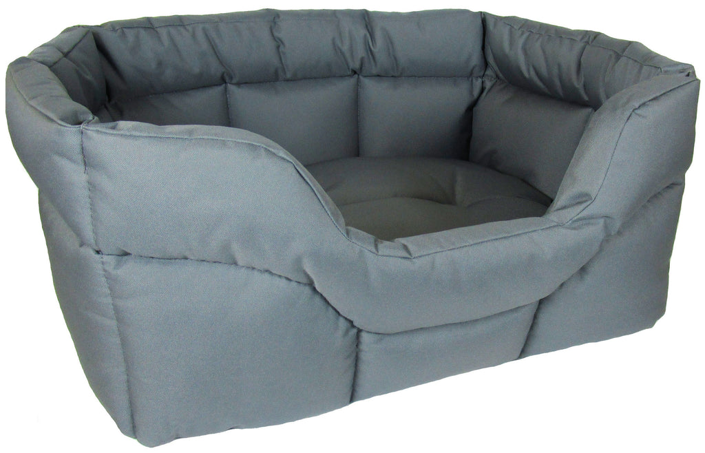 P&L Country Heavy Duty Rectangular Softee Bed in Grey - PurrfectlyYappy