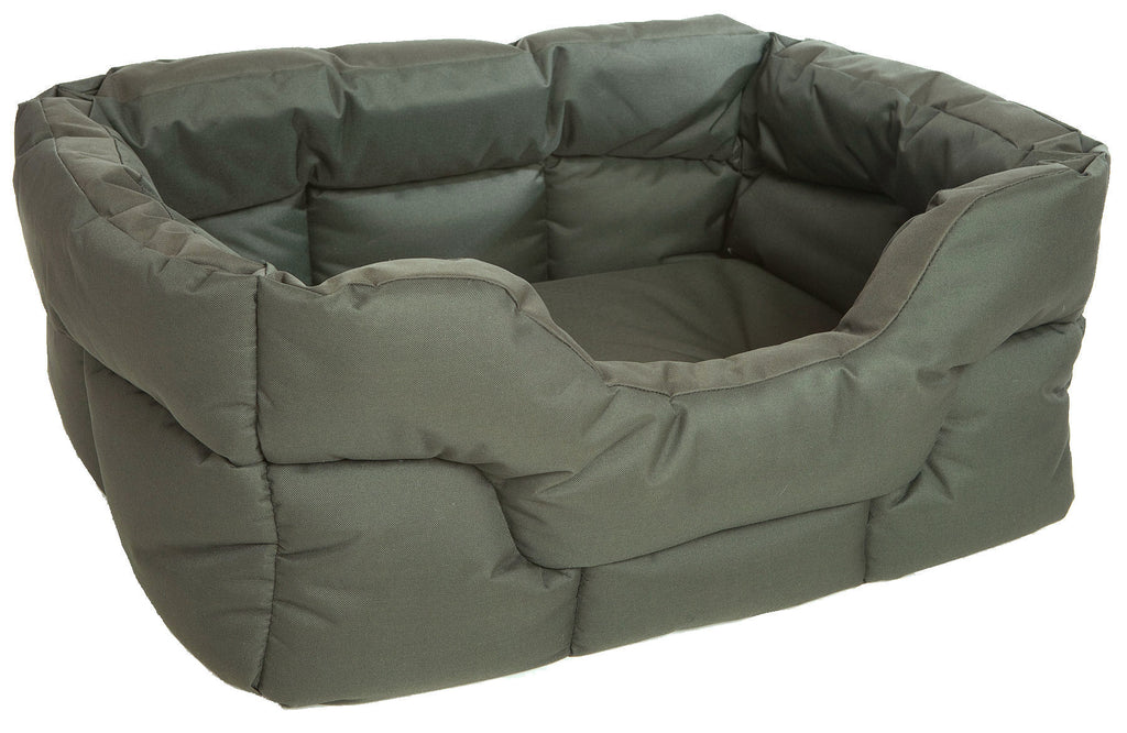 P&L Country Heavy Duty Rectangular Softee Bed in Green - PurrfectlyYappy