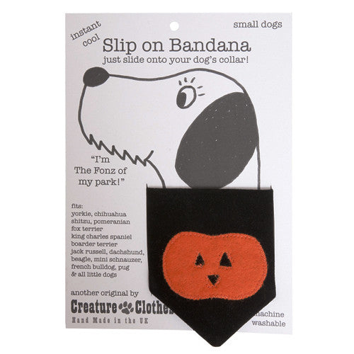 Creature Clothes Pumpkin Slip-on Dog Bandana - PurrfectlyYappy