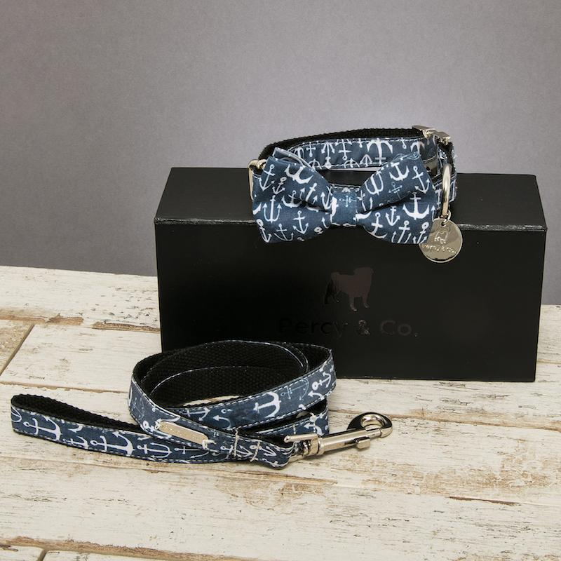Percy & Co. Dog Bow Tie Collar & Lead Set in Salcombe - PurrfectlyYappy