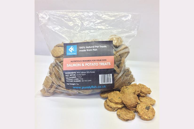 Purely Fish Salmon and Potato Treats, 1Kg Bags - PurrfectlyYappy