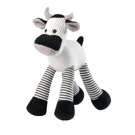 House Of Paws Cow Squeaker Cord Toy