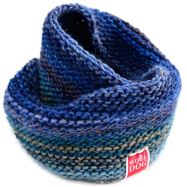 WoolDog Holi Handmade Dog Snood in Blue - PurrfectlyYappy
