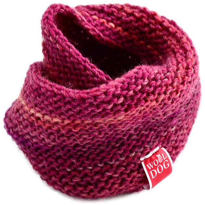 WoolDog Holi Handmade Dog Snood in Red - PurrfectlyYappy