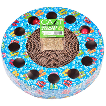 CA&T Peak A Boo & Scratch Cat toy - PurrfectlyYappy