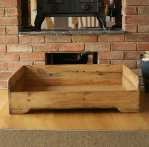 Hunt & Wilson Handmade Rustic Wooden Dog Bed Personalised