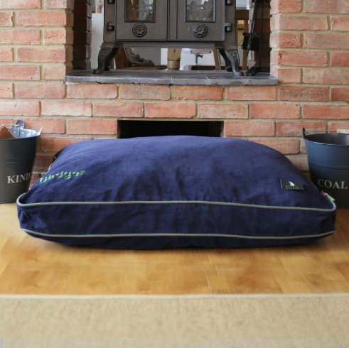 Hunt & Wilson Luxury Dog Bed Corduroy in Midnight Blue - PurrfectlyYappy