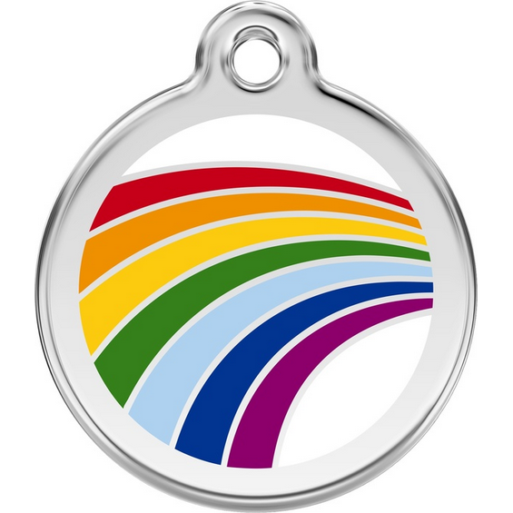 Red Dingo Enamel Pet Tag - Rainbow - PurrfectlyYappy