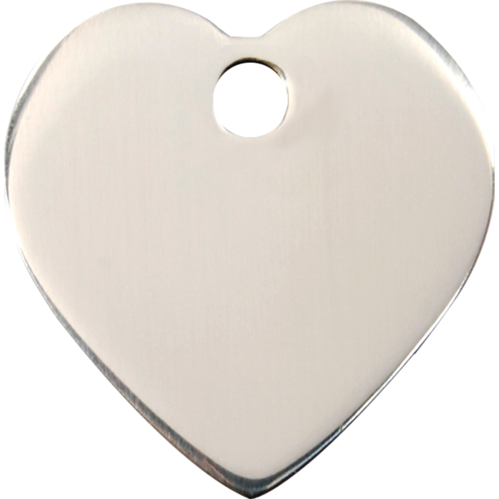 Red Dingo Enamel Pet Tag - Stainless Steel Heart - PurrfectlyYappy