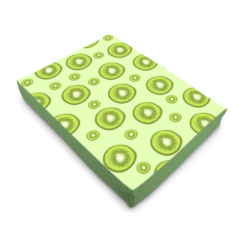 PurrfectlyYappy Canvas Dog Bed - Kiwi