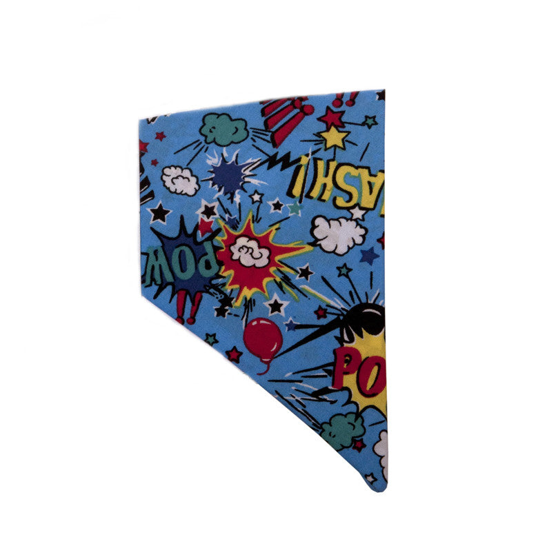 Creature Clothes Cartoon Blue Slip-on Dog Bandana - PurrfectlyYappy